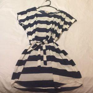 Striped knee length dress